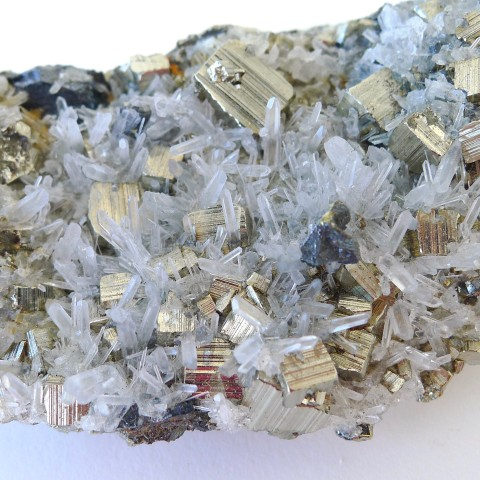 Pyrite with quartz fine minerals place 8 healing