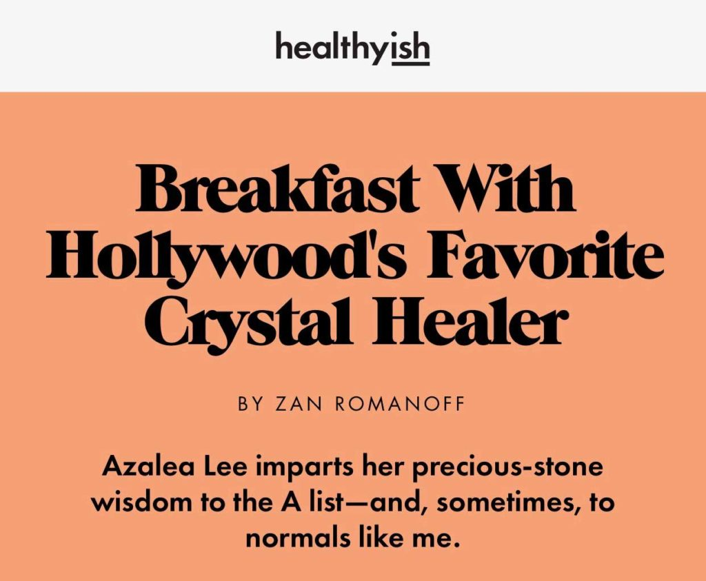 Healthyish Bon Appetit Crystal Healing Azalea Lee Place 8 Healing